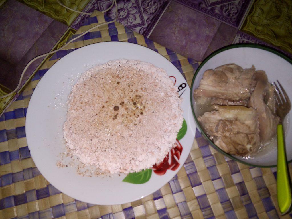 Sago bread with Pork is a delicacy